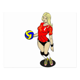 SEXY VOLLEY GIRL POSTCARD