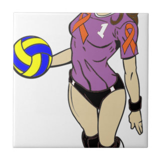 SEXY VOLLEY GIRL SMALL SQUARE TILE