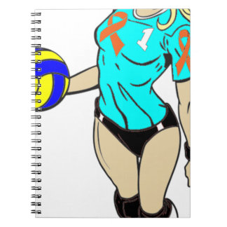 SEXY VOLLEY GIRL SPIRAL NOTEBOOK