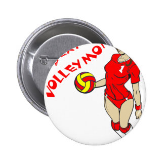 SEXY VOLLEY MOM 6 CM ROUND BADGE