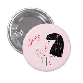 Sexy women illustration button