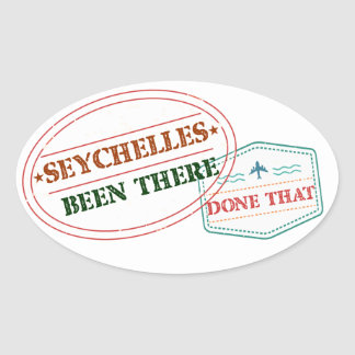 Seychelles Been There Done That Oval Sticker