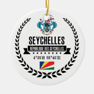 Seychelles Ceramic Ornament