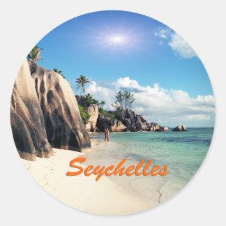 Seychelles Classic Round Sticker