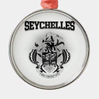 Seychelles Coat of Arms Metal Ornament