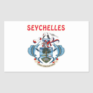 Seychelles Coat Of Arms Rectangular Sticker