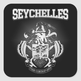 Seychelles Coat of Arms Square Sticker