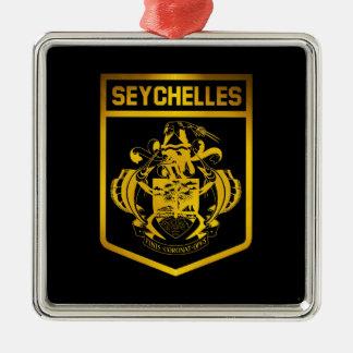 Seychelles Emblem Metal Ornament
