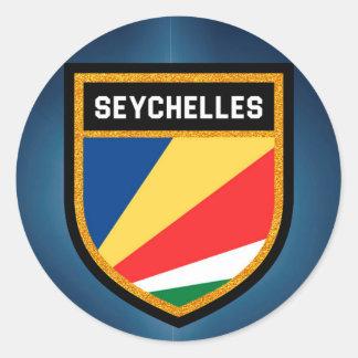 Seychelles Flag Classic Round Sticker