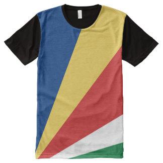 Seychelles Flag full All-Over Print T-Shirt