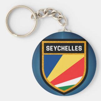 Seychelles Flag Key Ring