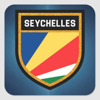 Seychelles Flag Square Sticker