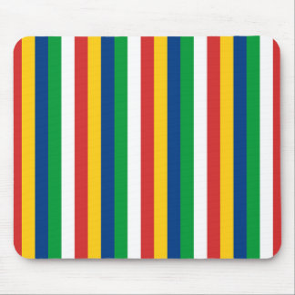 Seychelles flag stripes lines pattern mouse pad