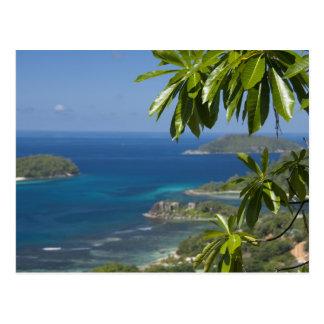 Seychelles, Island of Mahe. Western coast of Postcard