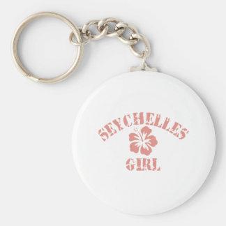 SEYCHELLES BASIC ROUND BUTTON KEY RING