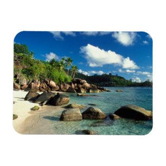 Seychelles, Mahe Island, Anse Royale Beach. 3 Rectangular Photo Magnet