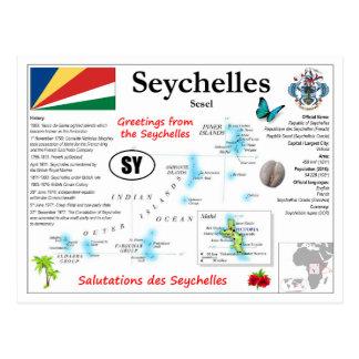 Seychelles Map Postcard