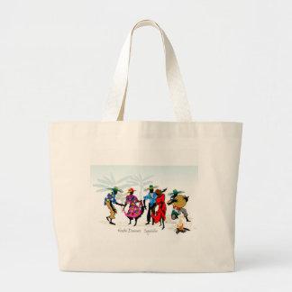 Seychelles Moutia Dancers Large Tote Bag