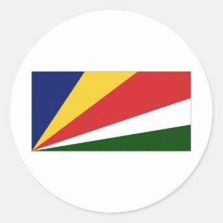 Seychelles National Flag Classic Round Sticker