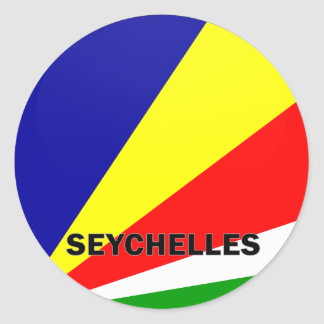 Seychelles Roundel quality Flag Classic Round Sticker