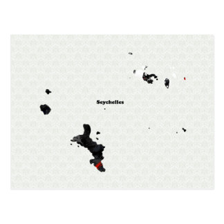 Seychelles Trendy Peace Sign with Seychellois map Postcard