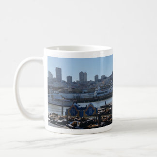 SF City Skyline & Pier 39 Sea Lions Mug
