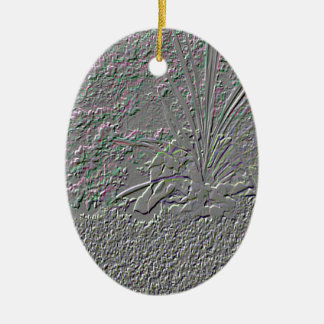 SF Embossed Ceramic Oval Decoration