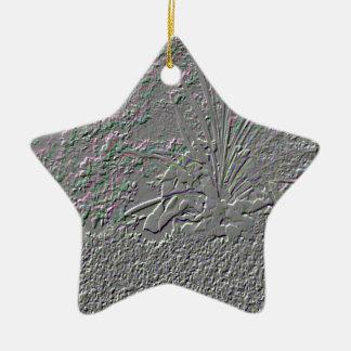 SF Embossed Ceramic Star Decoration