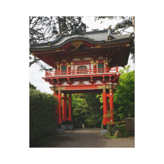 SF Japanese Tea Garden Temple Gate #2 Canvas Canvas Print