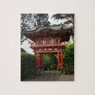 SF Japanese Tea Garden Temple Gate#2 Jigsaw Puzzle