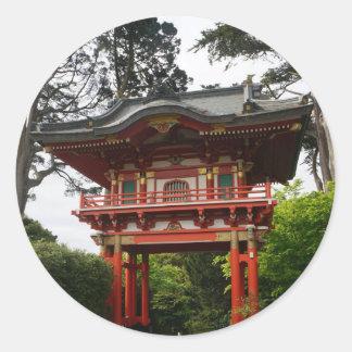 SF Japanese Tea Garden Temple Gate #2 Stickers