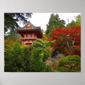 SF Japanese Tea Garden Temple Gate #3 Poster
