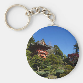 SF Japanese Tea Garden Temple Gate Button Keychain