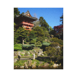 SF Japanese Tea Garden Temple Gate Canvas Canvas Print