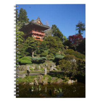 SF Japanese Tea Garden Temple Gate Notebook