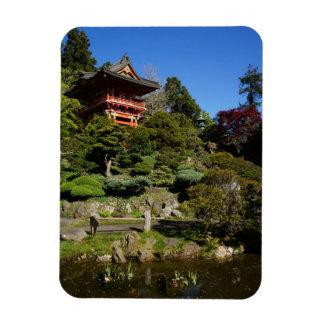 SF Japanese Tea Garden Temple Gate Photo Magnet