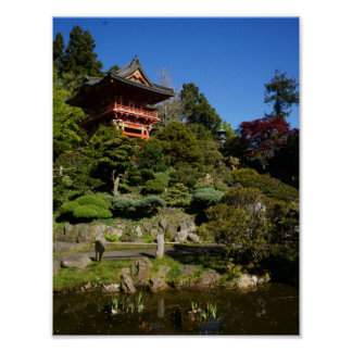 SF Japanese Tea Garden Temple Gate Poster