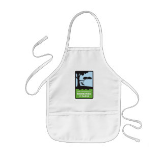 SF RPD Logo Apron in white for kids