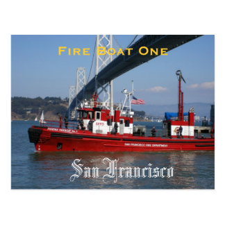 SFFD - Fire Boat One Postcard