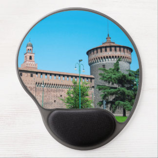 Sforza Castle tower italy milan architecture landm Gel Mouse Pad