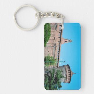 Sforza Castle tower italy milan architecture landm Key Ring