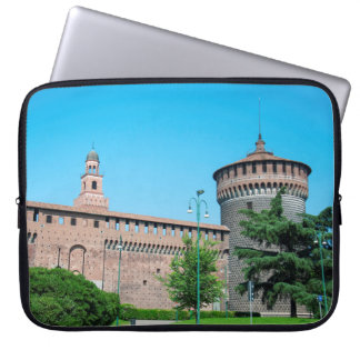 Sforza Castle tower italy milan architecture landm Laptop Sleeve