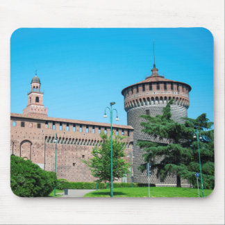 Sforza Castle tower italy milan architecture landm Mouse Pad