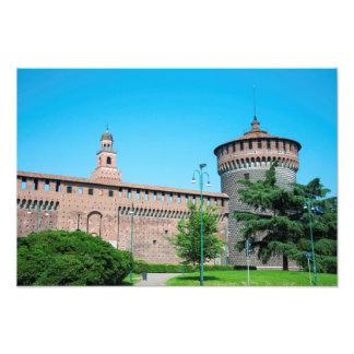 Sforza Castle tower italy milan architecture landm Photo Print