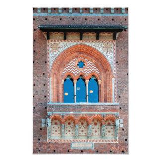 Sforza Castle window italy milan architecture land Photo Print
