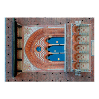 Sforza Castle window italy milan architecture land Poster