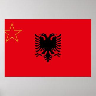 Sfr Yugoslav Albanian Minority, ethnic flag Posters
