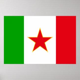 Sfr Yugoslav Italian Minority, ethnic flag Print