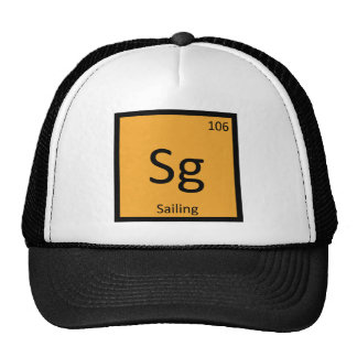Sg - Sailing Sports Chemistry Periodic Table Cap