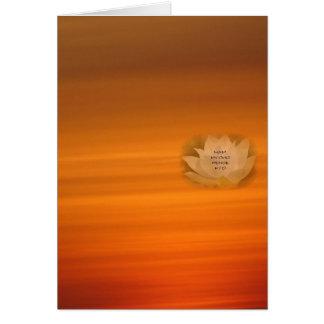 SGI Buddhist Card with Lotus & Nam Myoho Renge Kyo